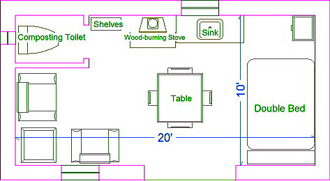 Plans for a Small Starter Straw Bale Home or Guest House