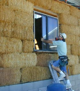 Straw Bale House Construction Pictures Part 3 Roofing