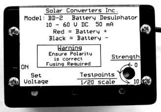 Using a Battery Desulfator - Essential Equipment for all PV